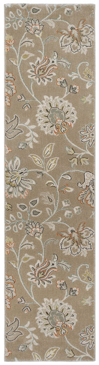 All-Over Floral Machine Made Belgium Oriental Rug