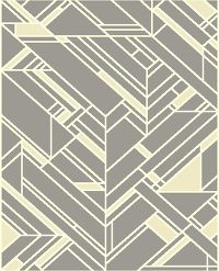 Geometric Machine Made Belgian Oriental Area Rug Grey