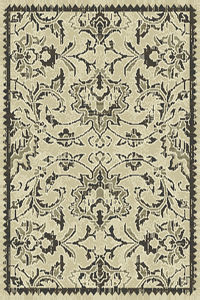 Floral Machine Made Belgium Oriental Area Rug Grey 2x3