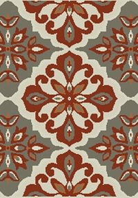 Red/Silver Transitional Floral Belgium Oriental Runner Rug 2x8