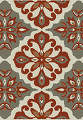Red/Silver Transitional Floral Belgium Oriental Runner Rug 2x8 image 1