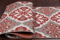 Red/Silver Transitional Floral Belgium Oriental Runner Rug 2x8 image 4