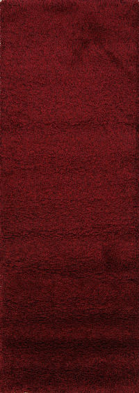 Solid Machine Made Belgium Oriental Rug Red