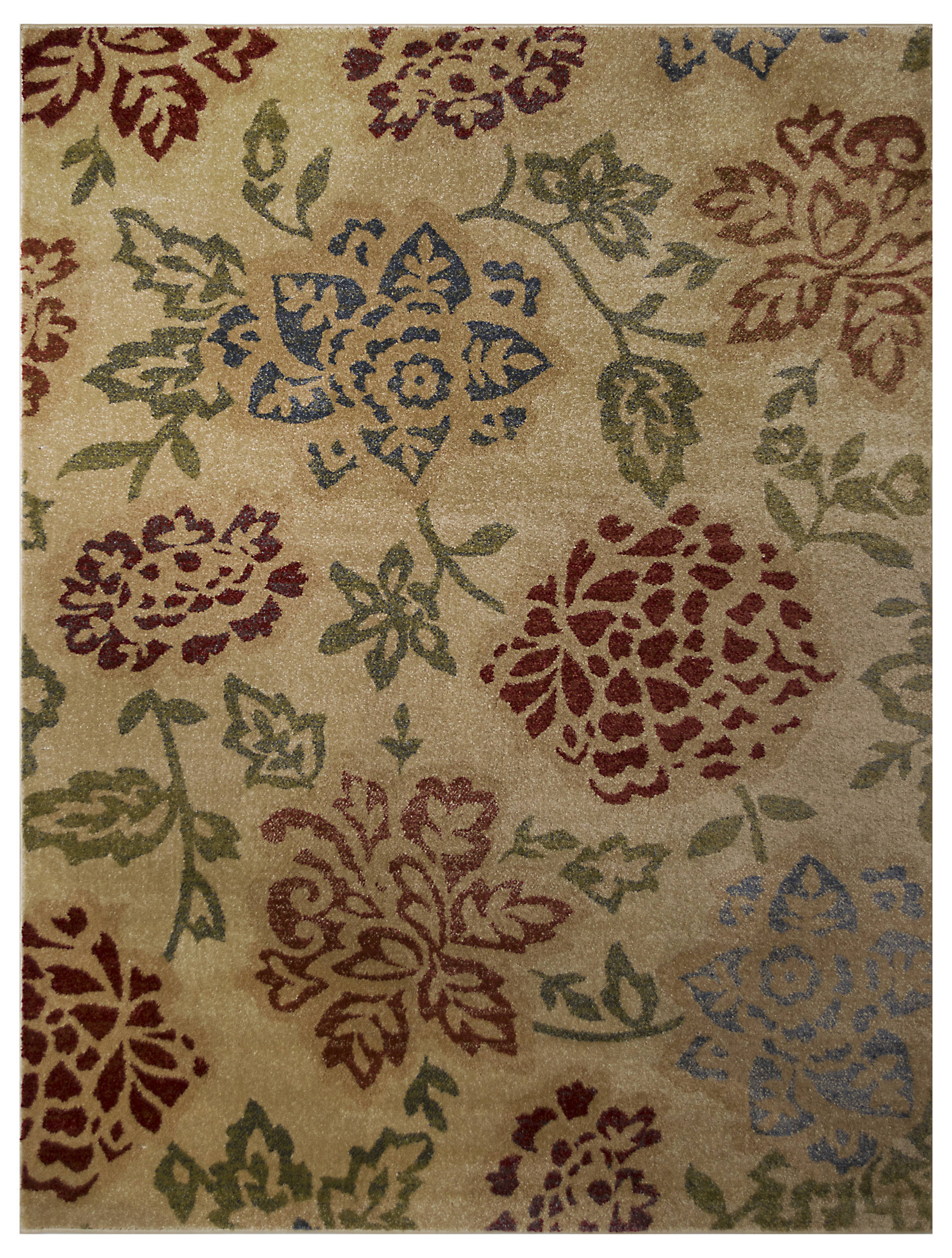 Floral 2x3 Machine Made Belgium Oriental Area Rug Brown