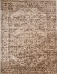 Geometric 2x3 Machine Made Belgium Oriental Area Rug Brown