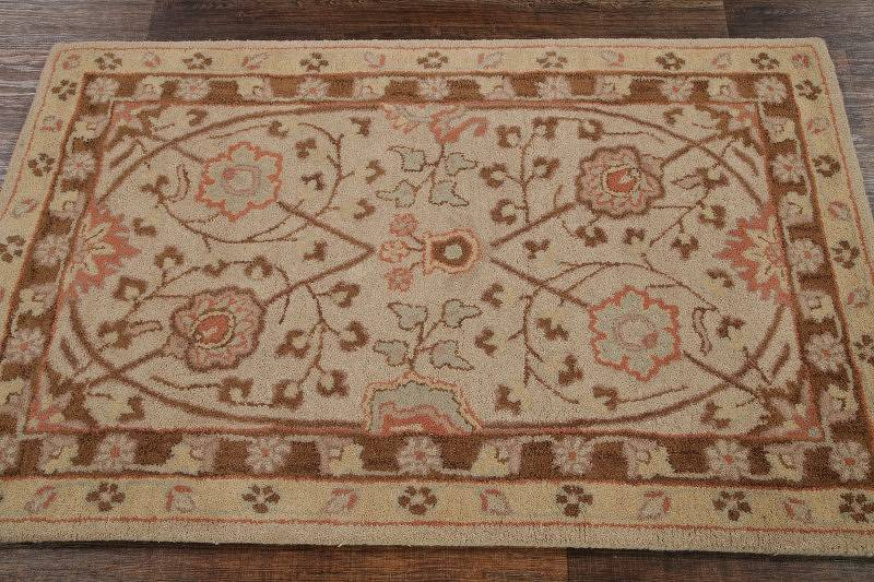 Classic Floral Agra Kashan Indian Oriental Area Rug 3x5