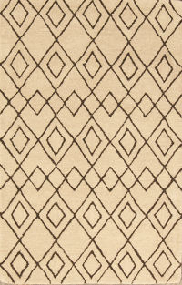 Geometric Trellis Indian Oriental Area Rug 3x5