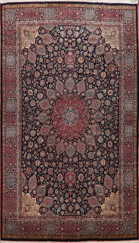 Large Floral Mashad Persian Area Rug 11x15