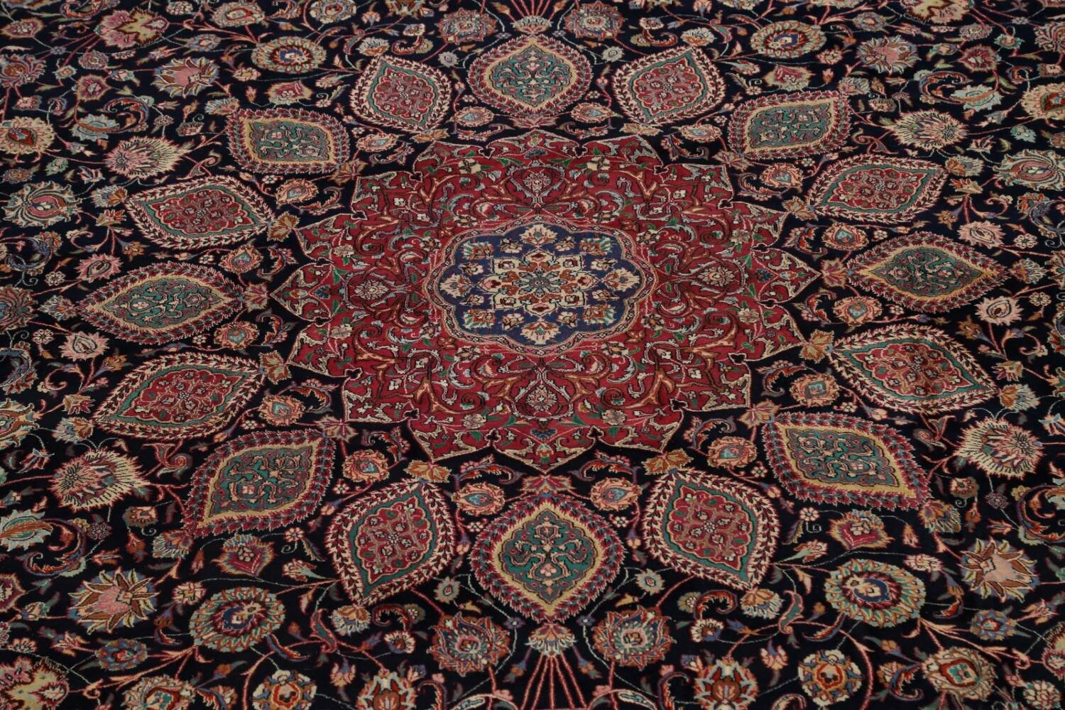 Large Floral Mashad Persian Area Rug 11x15 image 4