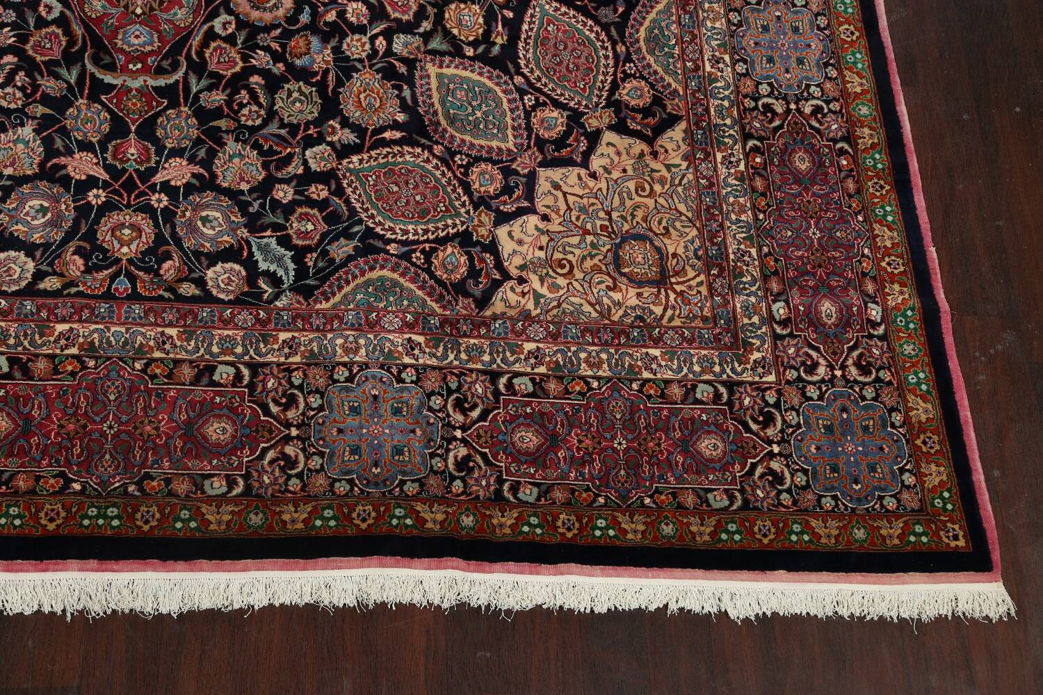 Large Floral Mashad Persian Area Rug 11x15 image 5