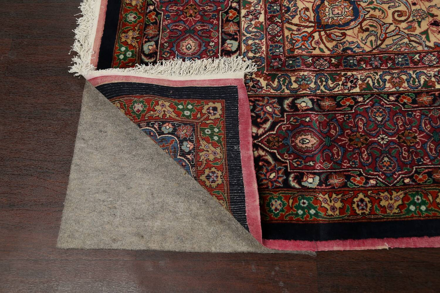 Large Floral Mashad Persian Area Rug 11x15 image 7