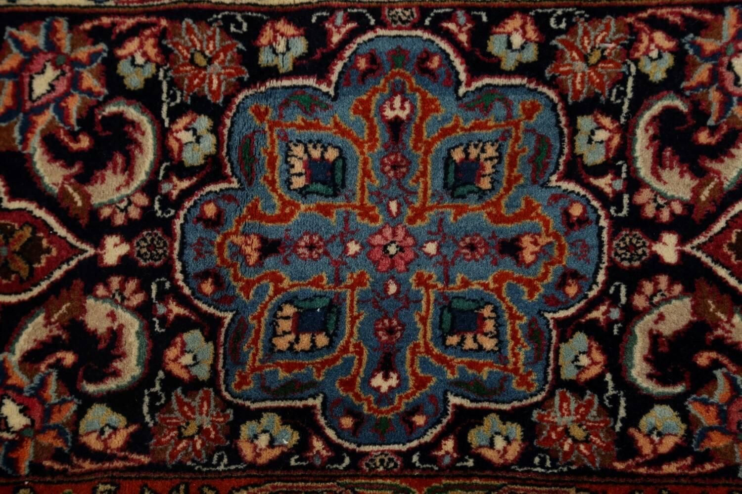 Large Floral Mashad Persian Area Rug 11x15 image 10