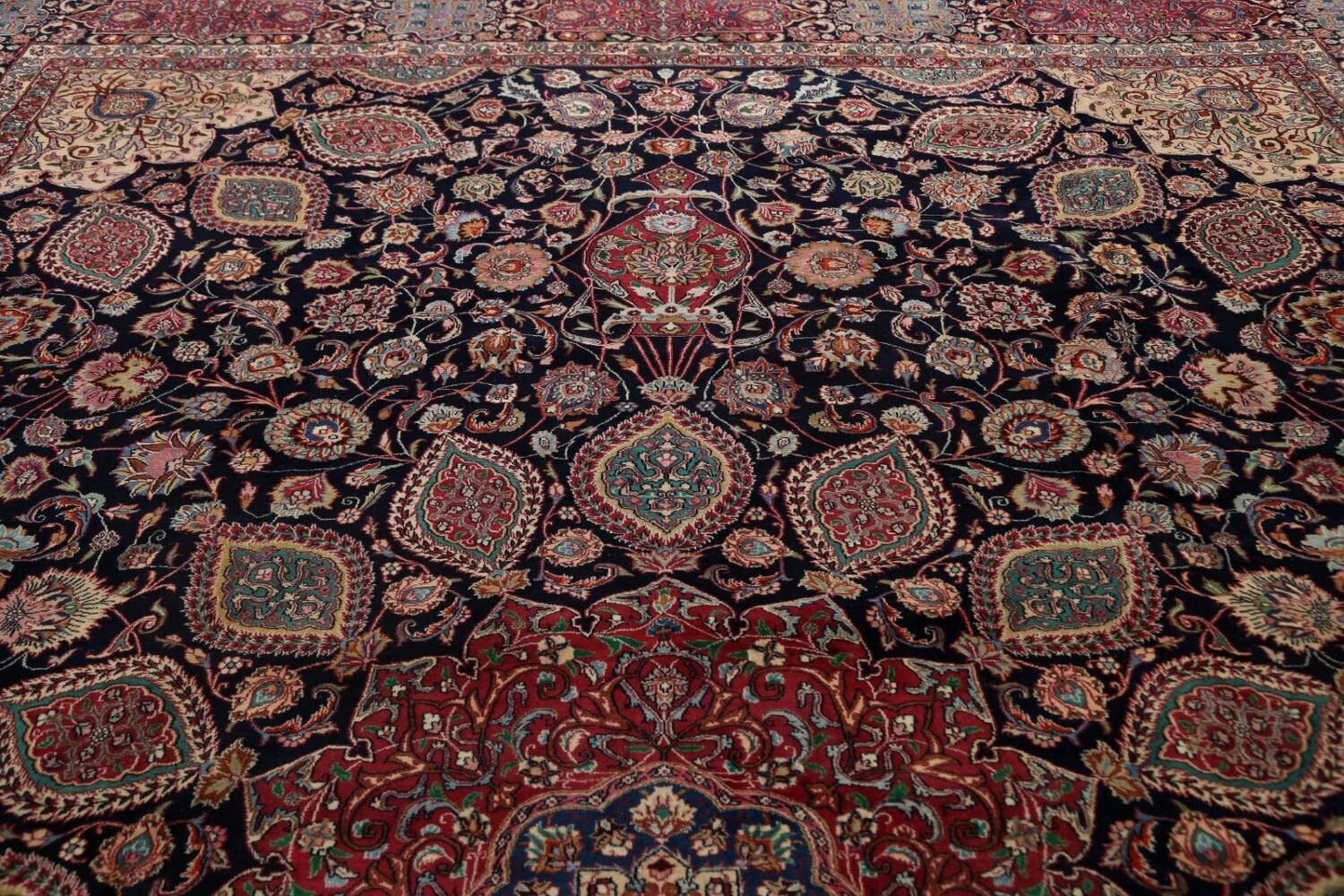 Large Floral Mashad Persian Area Rug 11x15 image 14