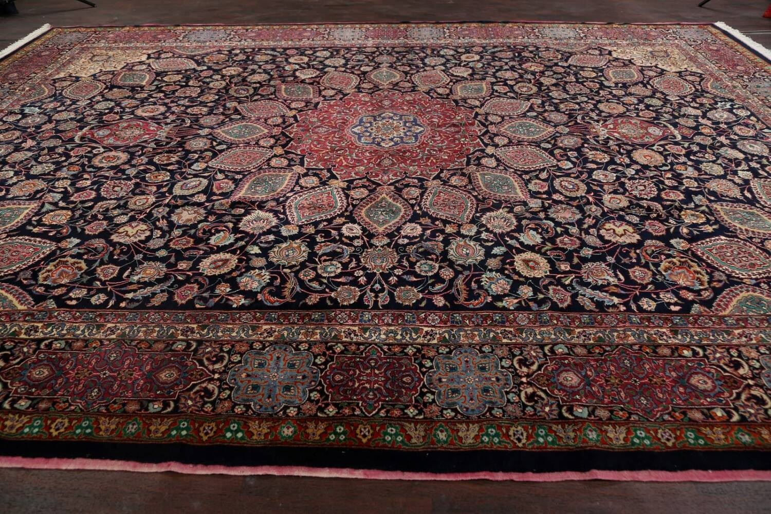 Large Floral Mashad Persian Area Rug 11x15 image 16