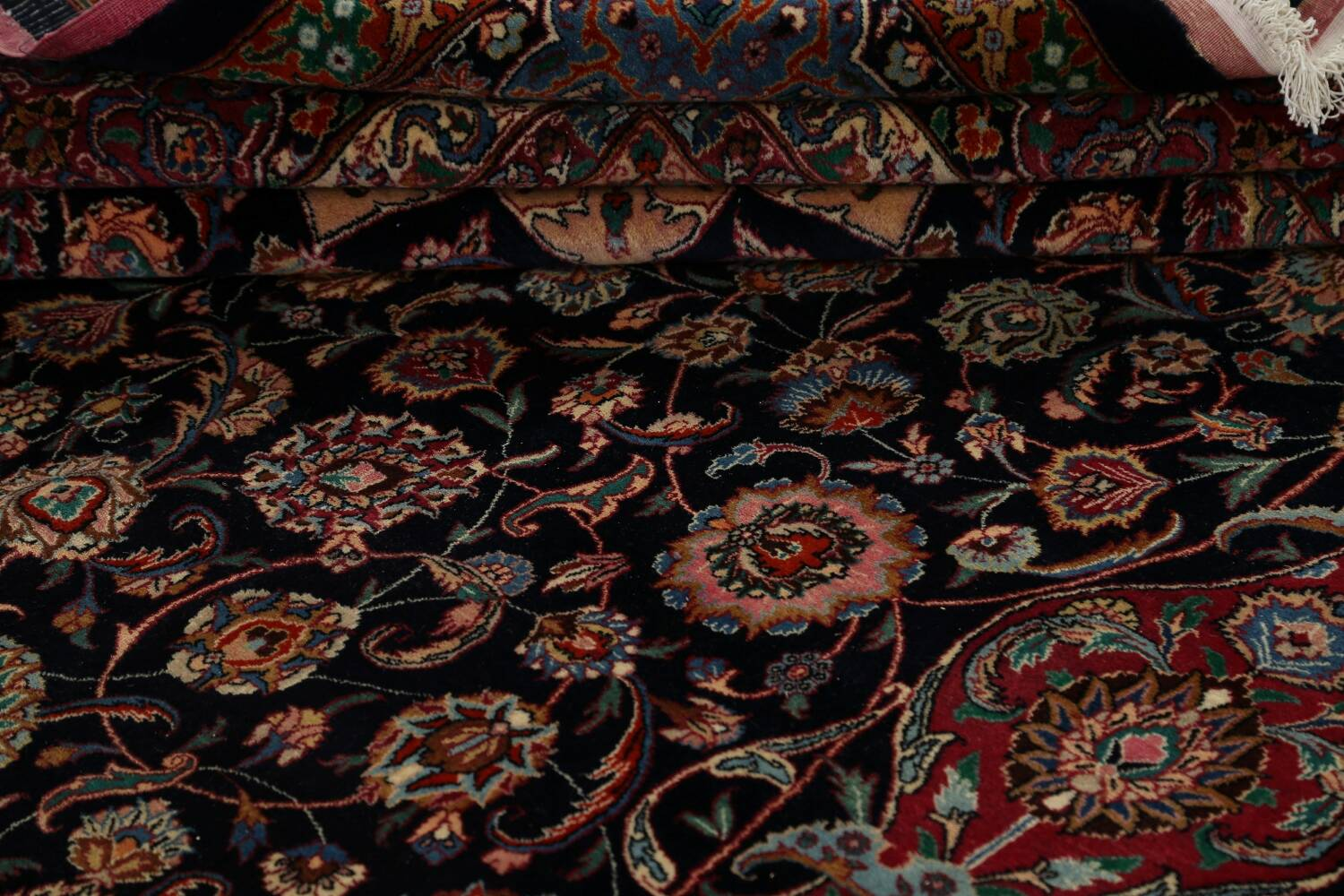 Large Floral Mashad Persian Area Rug 11x15 image 18