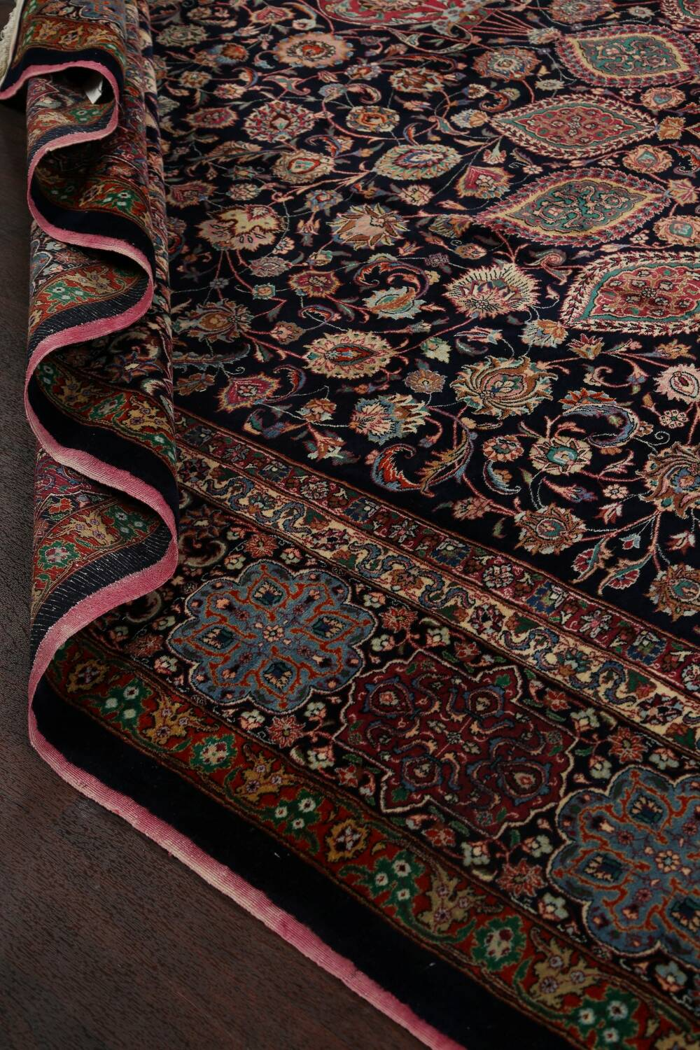 Large Floral Mashad Persian Area Rug 11x15 image 19