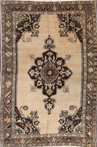 Antique Oushak Turkish Oriental Area rug 5x7