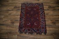 Antique Tribal Shiraz Persian Area Rug 3x4