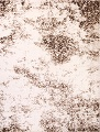 Reproduction Abstract Modern Ivory/Brown Turkish Oriental Area Rug image 1