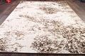 Reproduction Abstract Modern Ivory/Brown Turkish Oriental Area Rug image 7