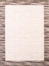 Contemporary Reproduction Modern Turkish Oriental Ivory/Brown Area Rug