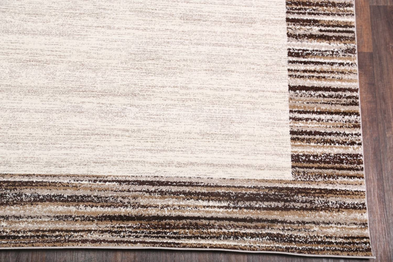 Contemporary Reproduction Modern Turkish Oriental Ivory/Brown Area Rug image 4