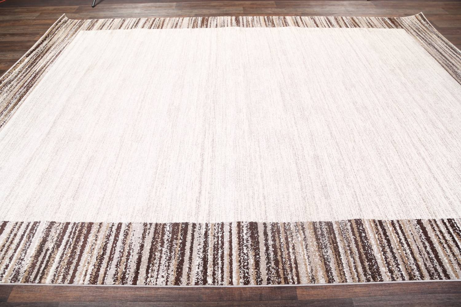 Contemporary Reproduction Modern Turkish Oriental Ivory/Brown Area Rug image 6