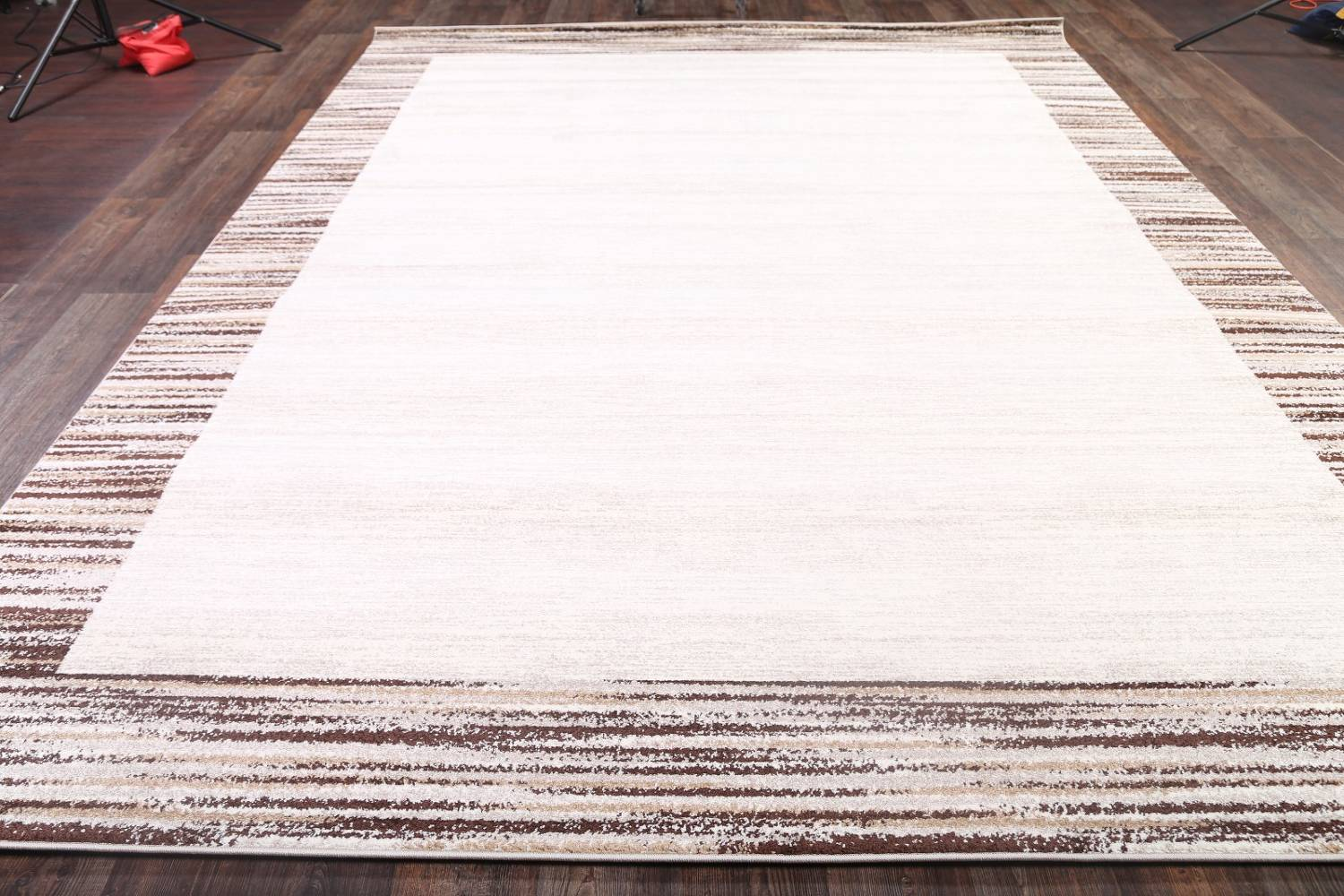 Contemporary Reproduction Modern Turkish Oriental Ivory/Brown Area Rug image 7