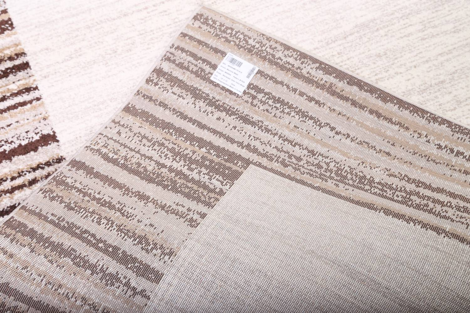 Contemporary Reproduction Modern Turkish Oriental Ivory/Brown Area Rug image 9