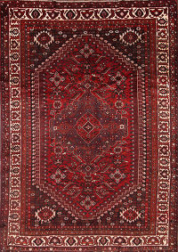 Geometric Tribal Qashqai Shiraz Persian Area Rug 7x10