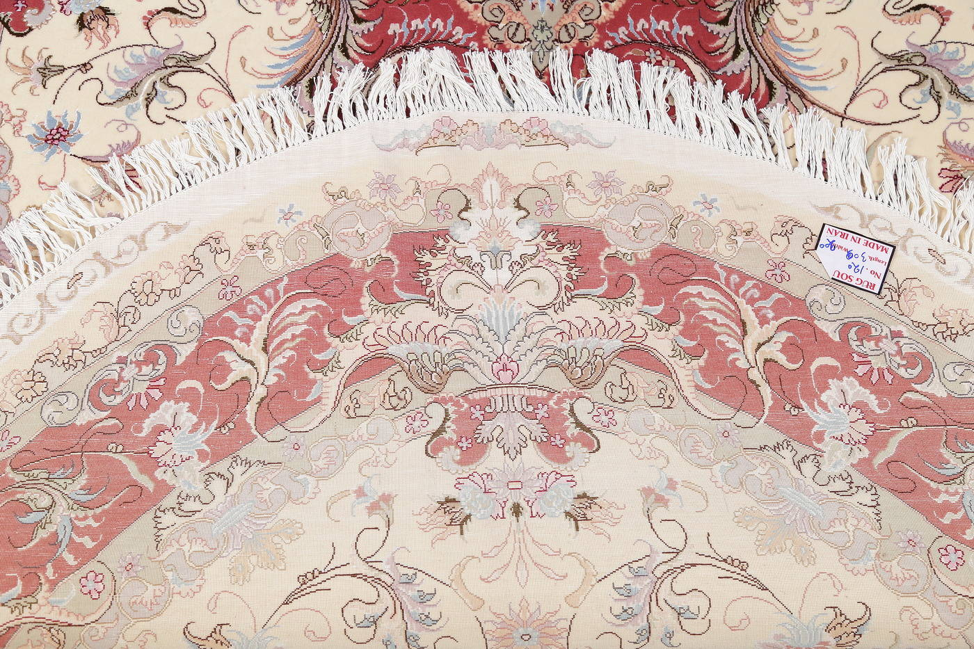 Ivory Floral Tabriz Persian Oval Area Rug 7x10 image 20