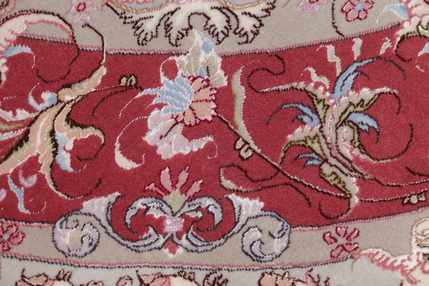 Ivory Floral Tabriz Persian Oval Area Rug 7x10 image 11