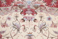 Ivory Floral Tabriz Persian Oval Area Rug 7x10 image 7