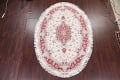 Ivory Floral Tabriz Persian Oval Area Rug 7x10 image 2