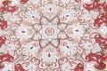 Ivory Floral Tabriz Persian Round Rug 9'x9' image 9