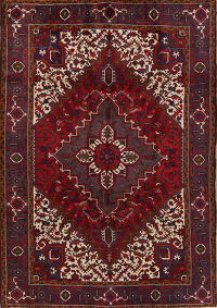Red Geometric Heriz Persian Area Rug 6x9
