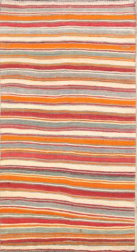 Striped Contemporary Kilim Shiraz Persian Runner Rug 6x11