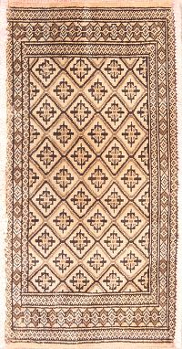Geometic Turkoman Bokhara Persian Wool Rug 2x3