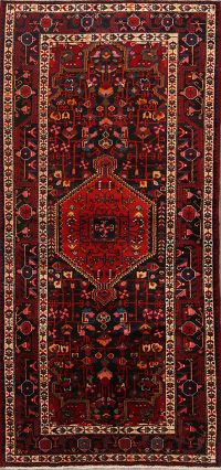 Tribal Geometric Malayer Persian Runner Rug 4x9