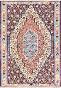 Geometric Senneh Persian Area Rug 4x6