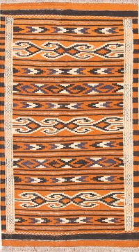 Geometric Kilim Shiraz Persian Area Rug 3x6