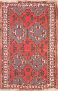 Geometric Tribal Sumak Sirjan Persian Area Rug 5x7