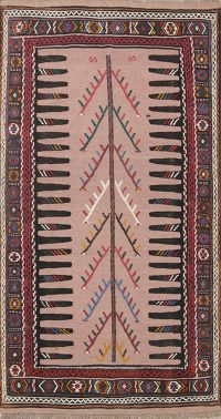 Tribal Senneh Shiraz Persian Area Rug 3x6