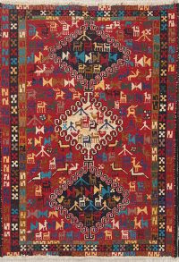 Geometric Kilim Shiraz Persian Area Rug 3x5