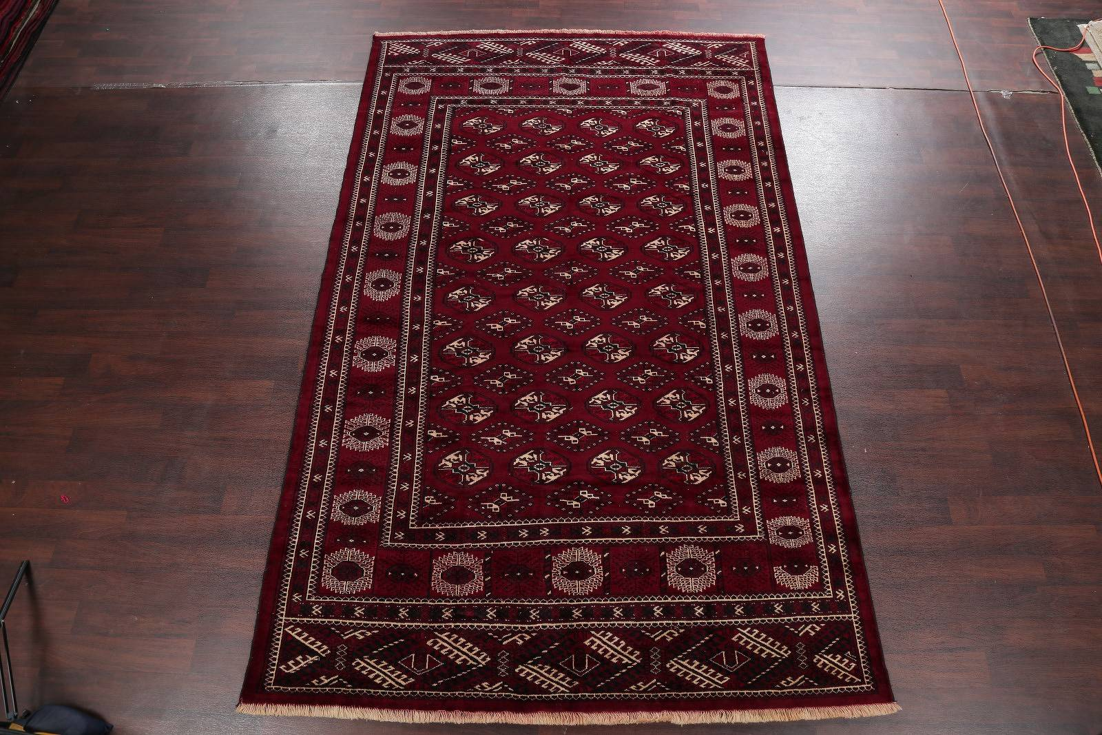 All-Over Red Geometric Balouch Persian Area Rug 8x12