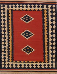 Flat-Weave Kilim-Shiraz Persian Tribal Area Rug 5x7