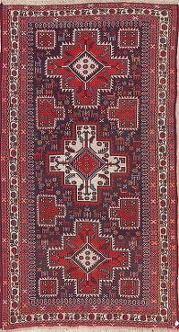 Tribal Geometric Sumak Sirjan Persian Hand-Woven 5x9 Wool Area Rug