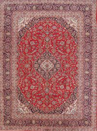 Traditional Floral Wool Kashan Persian Area Rug 10x13