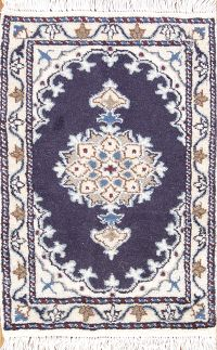 Geometric Nain Persian Wool Rug 1x2