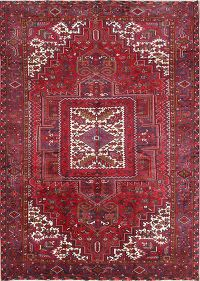 Geometric Soft Wool Heriz Persian Area Rug 10x13